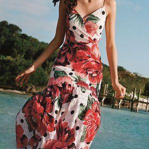 NEW Farm Rio Anthro Riviera Eyelet Maxi Dress 12